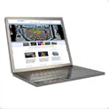 Laptop with GigaPan website