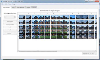 Stitch Example Select and Arrange Images