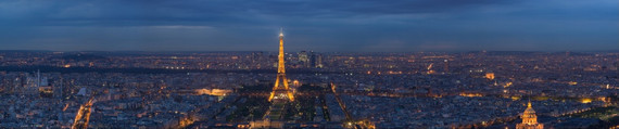 Panorama of Paris and the Eiffel Tower, Eiffeltornet